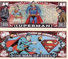 Superman Million Dollar Novelty Money