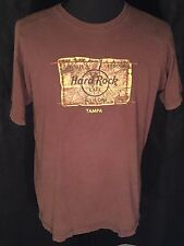 Hard Rock Cafe Tampa Est 1971 Classic All Is One Mens Size Large L Brown T-shirt