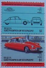1955 CITROEN DS-19 Car Stamps (Leaders of the World / Auto 100)