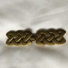 CELTIC KNOT CLOAK CLASP IN BRASS MEDIEVAL REENACTMENT LARP CAPE CLASP