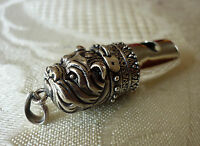 Solid sterling silver ENGLISH BULLDOG dog whistle