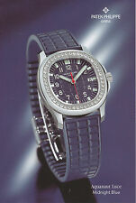Prospekt Karte Uhr Patek Philippe Aquanaut Luce Midnight Blue 2005 brochure card