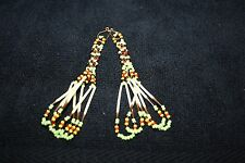 Anerican Plains Indian pierced earrings With Porcupine quills