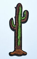 Cactus - Desert - Southwestern Embroidered Iron On Applique Patch cloth Jean