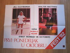 FIRST MONDAY IN OCTOBER Yugoslavian movie poster Jill Clayburgh Walter Matthau