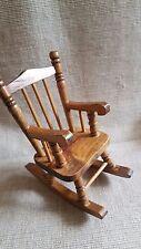 petit Fauteuil à bascule en bois, 15 cm de hauteur,Large 8 cm