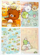 San-X Rilakkuma Charactor Plastic A4 File Folder - 4 Assorted Color - F (24c31)