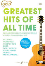 Gold Greatest Hits of All Time Pop Guitar Chords Voice SONGS FABER Music BOOK