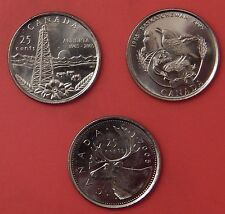 Brilliant Uncirculated 2005P Canada Alberta & Saskatchewan & Caribou 25 Cents