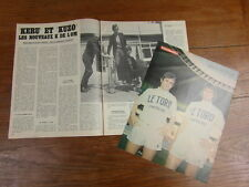Photo-poster FOOTBALL vintage : KERUZORE KUZOWSKI OM + ARTICLE 4 PAGES 1973