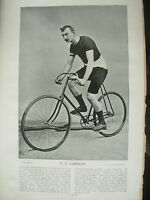 THE SPORTFOLIO PORTRAITS 1896 VINTAGE CYCLING PHOTOGRAPH PRINT U.L. LAMBLEY