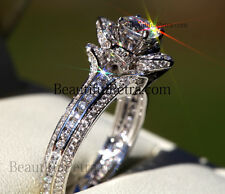 CUSTOM MADE 2.60carats UNIQUE Rose Flower DIAMOND Engagement ring MUST SEE! Fl01