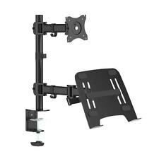 Pyle PLTLSTND23 Universal Dual Device Stand, Laptop & TV Monitor Screen Mount