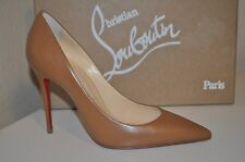 Christian Louboutin DECOLLETE 100 MM Pointy Toe Pump Shoes NOISETTE Tan Brown 36