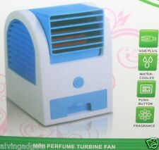 Portable Bladeless Air Conditioner USB Mini Cooling Turbine Fan(Green)