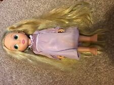 DISNEY Tangled Rapunzel First Edition Animator Toddler bambola GLITTER PER CAPELLI 1st