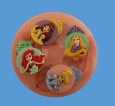 DISNEY PRINCESSES SET SILICONE MOULDS FOR CAKE TOPPERS, CHOCOLATE, CLAY ETC