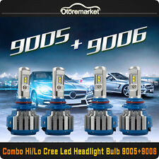 Combo CREE 9006 9005 LED Headlight Bulbs High Low Beam 140W 14400LM 6000K White