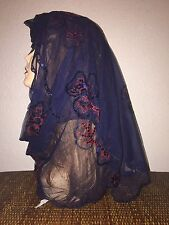 Long Navy Blue Scarf Hijab Wrap Sheer very pretty and fashionable Last 1
