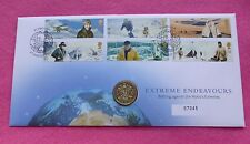2003 ROYAL MINT EXTREME ENDEAVOURS ROYAL ARMS  ONE POUND COIN £1 FDC / PNC
