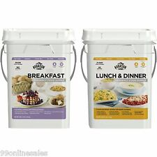 Augason Farms Emergency Disaster Survival Camp Food Breakfast Lunch Dinner Pails