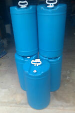 15 Gallons Plastic Barrel Blue Hdpe #2