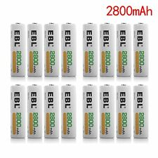 EBL 16x 2800mAh 1.2V Ni-MH Nickel Metal Hydrided AA Rechargeable Batteries