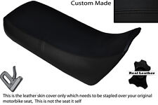 BLACK STITCH CUSTOM FITS HONDA XRV 750 AFRICA TWIN 96-03 DUAL LEATHER SEAT COVER