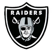 Oakland La Raiders NFL Football Logo Embroidered Sew On Patch LARGE High Quality