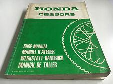Werkstatthandbuch + Ergänzung CB 250 RS-DX / CL 250 S-(C) / CB 250 RS -(A)(MC02)