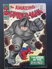 The Amazing Spider-Man #41 - 1st App. of Rhino Key Issue Marvel ASM Nice Copy
