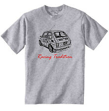 MALUCH POLISH FIAT 126 P RACING 1P - NEW COTTON GREY TSHIRT - ALL SIZES IN STOCK