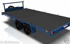 TRAILER PLANS - 3500KG FLAT TOP WIDE BED TRAILER PLANS - 4800 x 2400mm (16x8ft)