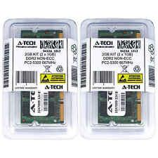 2GB KIT 2 x 1GB SODIMM DDR 2 NON-ECC PC2-5300 667MHz 667 MHz DDR-2 2G Ram Memory