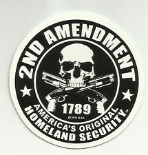 2ND AMENDMENT SKULL TACTICAL MORALE MILITARY CAR VEHICLE WINDOW DECAL STICKER