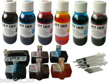 Ink refillable cartridge for hp 02 C6150 C6180 C6280 C7280 C8180+ 600ml Syringe