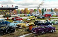 Ken Zylla Demolition Days Stock Car Racing Art Print  Open Edition  12 x 8
