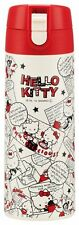 Hello Kitty Lock with One Push Stainless Mug Bottle 350ml from Japan F/S