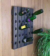 Unique Wine Riddling Rack 30 Bottle Hand Crafted Wall Hanging Wine Rack