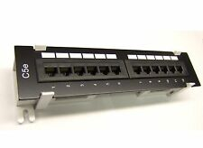 12 Port CAT5e RJ45 110 Network Mini Patch Panel Surface Wall Mount Bracket New