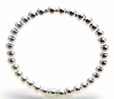 2MM Sterling Silver 925 Shiny Sphere Balls Bead Stacking Ring Skinny Band Size 9