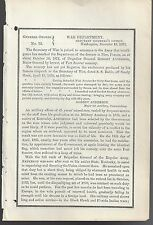 Official War Department Announcement of the Death of General Robert Anderson