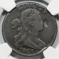 1801 s-223 NGC VF Details (1/000) Draped Bust Large Cent Coin 1c