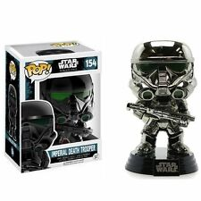 STAR WARS ROGUE ONE FUNKO POP Figurine Figure IMPERIAL DEATH TROOPER 9 cm CHROME
