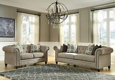 "Ashley ""Azlyn"" Sofa and Loveseat Decorative Nailhead Trim Furniture 99402"
