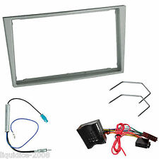 VAUXHALL ASTRA H 2004 ONWARDS DARK GREY DOUBLE DIN FASCIA FITTING PACKAGE KIT