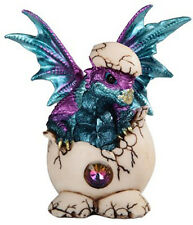 WATER DROP        Emerging Baby Dragon from Egg  Statue   H5.25""