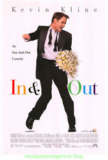 IN AND OUT MOVIE POSTER Original 27x40 One Sheet KEVIN KLINE Gay ComedyFilm 1997