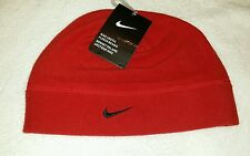 NEW NIKE ARCTIC FLEECE BEANIE Sports Cap Red 1 Size Fits Most Soft Fleece w/Tags