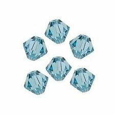 SWAROVSKI CRYSTAL BEADS 4mm 5301 Bicone 100 AQUAMARINE